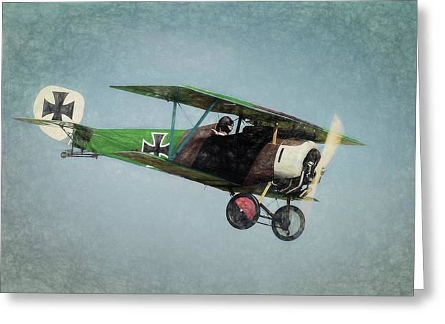 German Fighter Greeting Card by James Barber