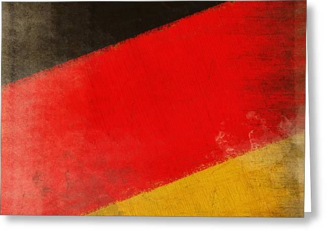 German Map Greeting Cards - German flag Greeting Card by Setsiri Silapasuwanchai