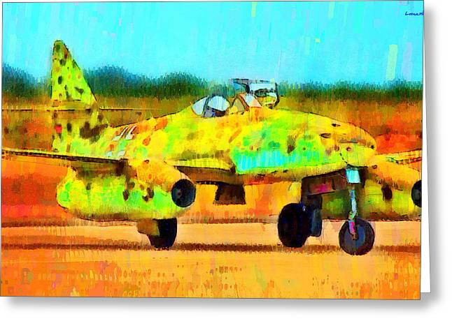 German Messerschmitt Me 262 Hg 2 - Pa Greeting Card