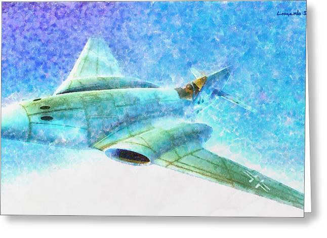 German Messerschmitt Me 262 Hg 3 - Da Greeting Card