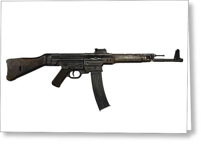 German Mp-44 Assault Rifle Greeting Card by Andrew Chittock