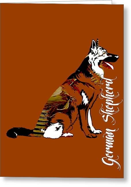 German Sheperd Collection Greeting Card