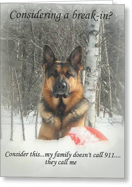 German Shepherd 911 Greeting Card