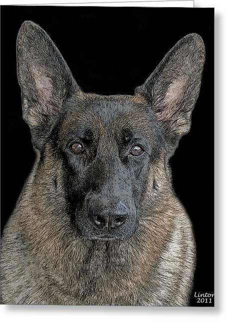 German Shepherd Dog 3 Greeting Card