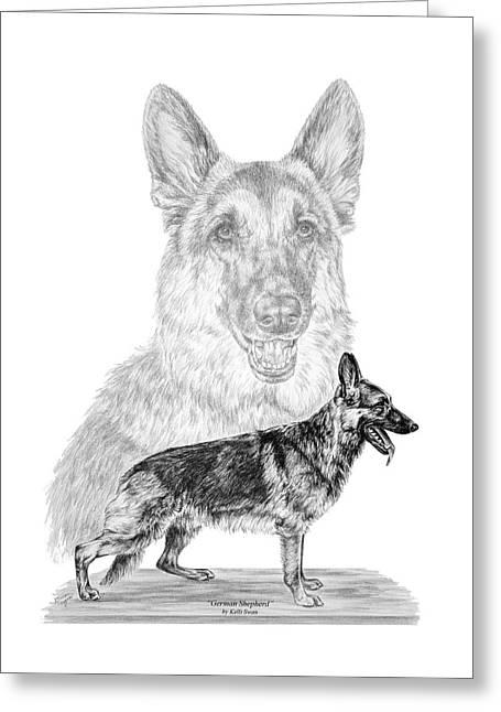 German Shepherd Dogs Print Greeting Card