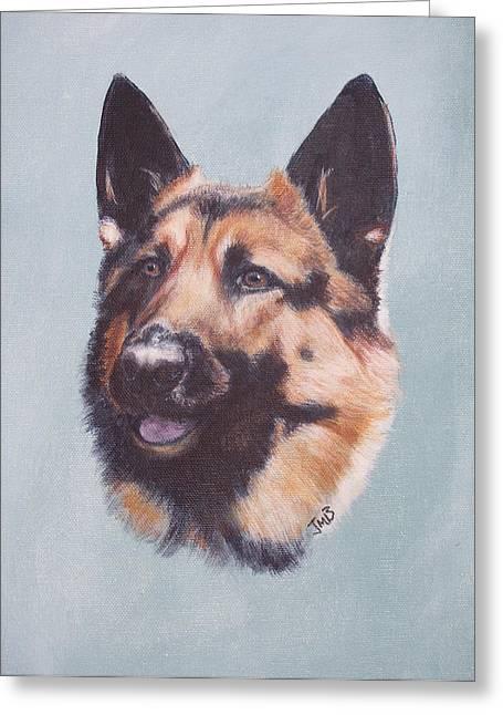 German Shepherd  Greeting Card by Janice M Booth