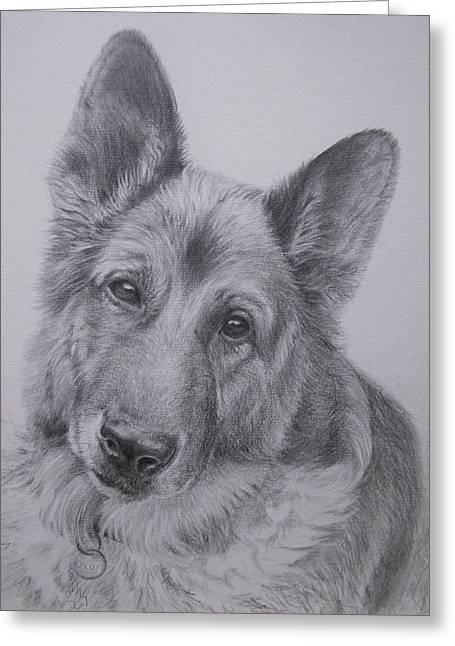 German Shepherd Greeting Card by Keran Sunaski Gilmore