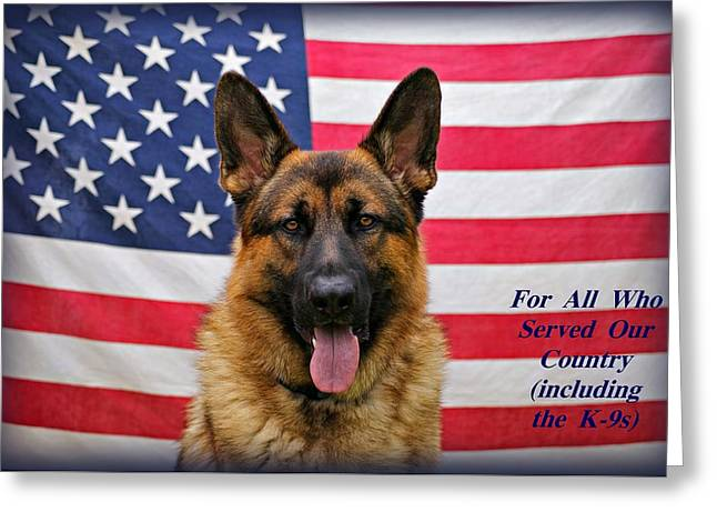 German Shepherd - U.s.a. - Text Greeting Card