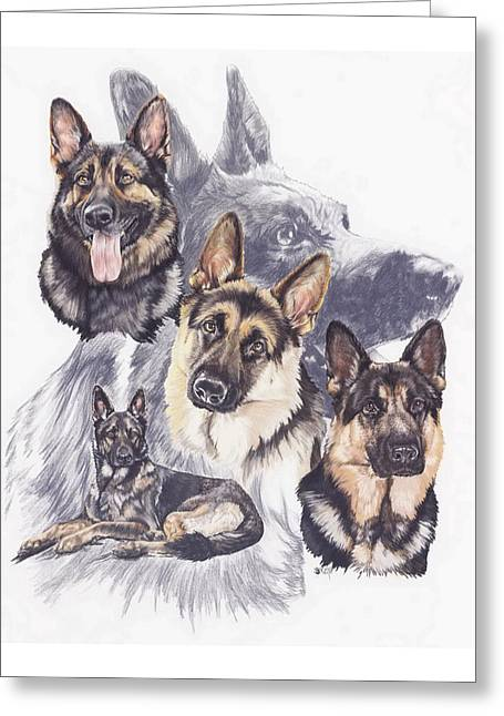 Working Dog Greeting Cards - German Shepherd w/Ghost Greeting Card by Barbara Keith