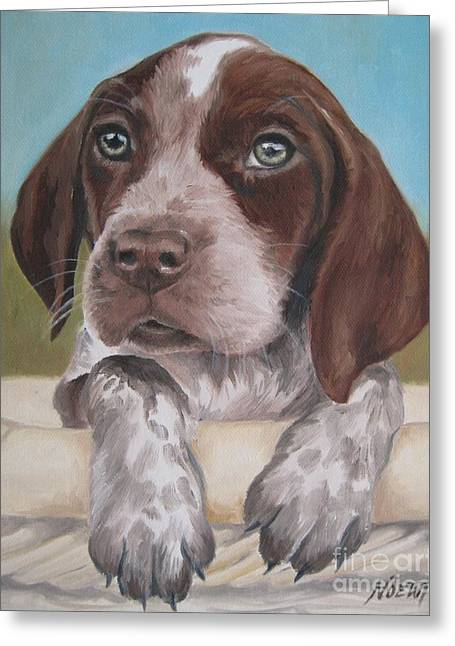 German Shorhaired Pointer Puppy Greeting Card