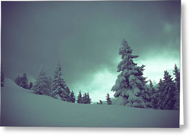 German Winter Landscape Greeting Card by Happy Home Artistry