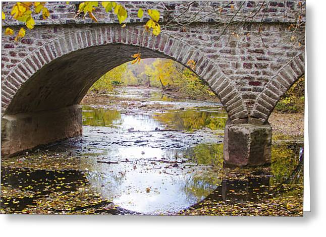 Germantown Pike Bridge Over Skippack Creek Greeting Card