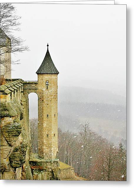 Germany - Elbtal From Festung Koenigstein Greeting Card by Christine Till