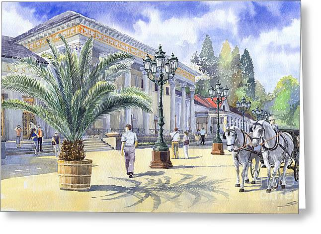 Germany Baden-baden Kurhaus Casino Greeting Card by Yuriy  Shevchuk