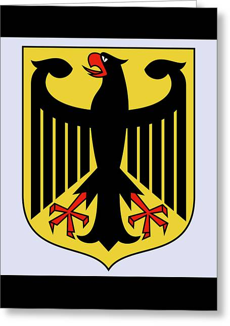 Greeting Card featuring the drawing Germany Coat Of Arms by Movie Poster Prints