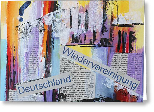 Germany Complete Greeting Card by Jutta Maria Pusl