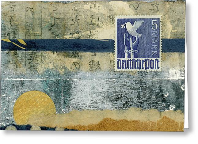 Germany Dove Of Peace 1948 Collage Greeting Card