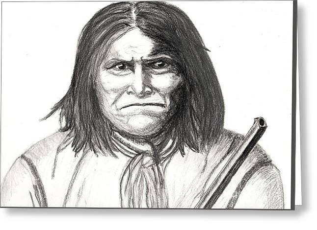 Geronimo 1877 Greeting Card by Bob Schmidt