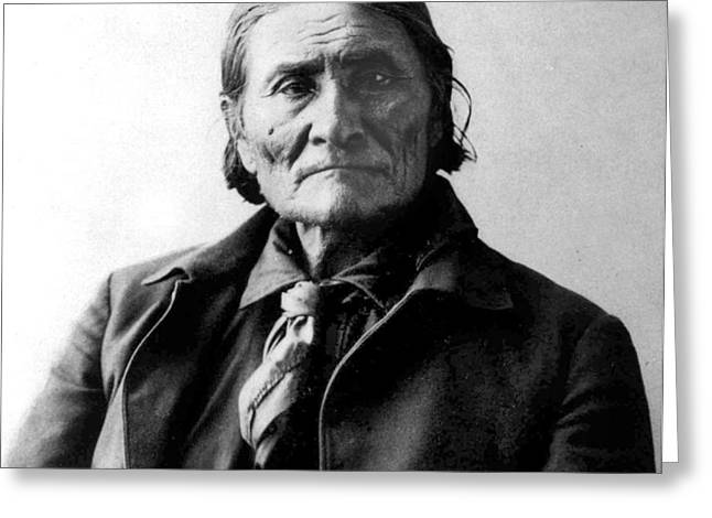 Geronimo Greeting Card by Frank Rinehart