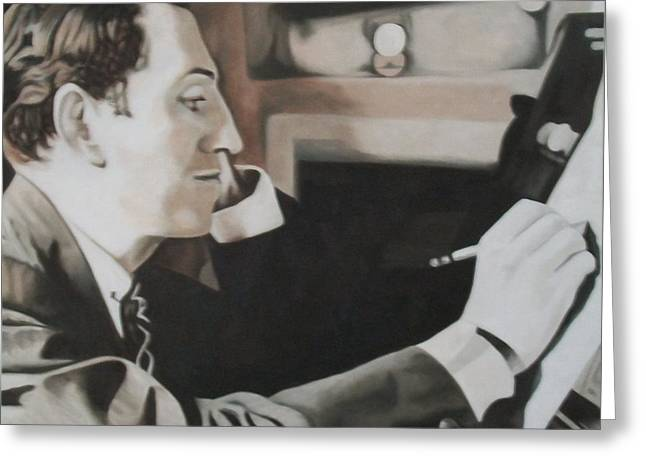 Gershwin Greeting Card by Kevin Hopkins
