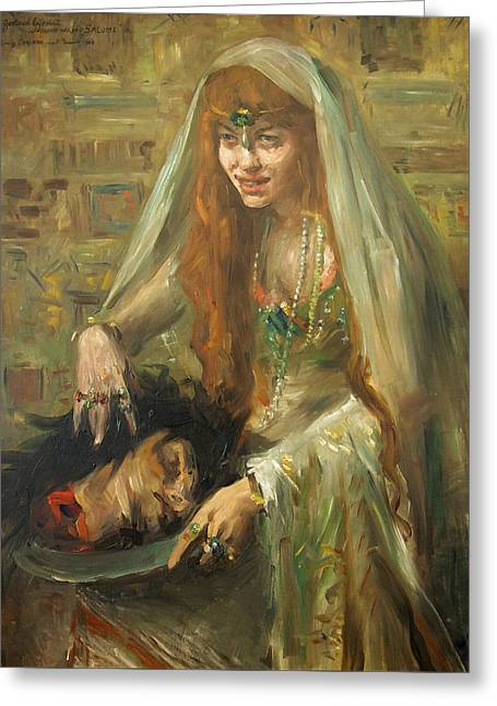 Gertrud Eysoldt As Salome Greeting Card by Lovis Corinth