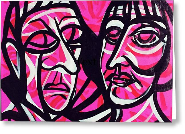 Gertrude And Alice Greeting Card