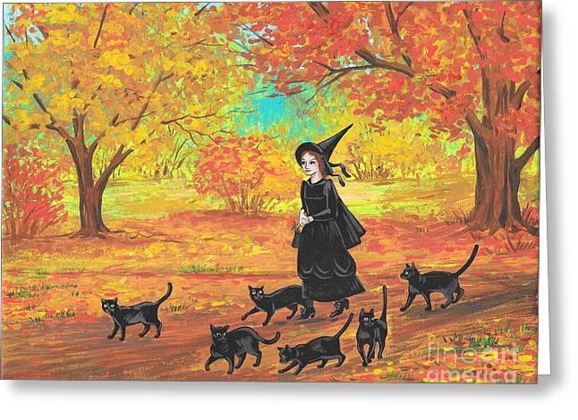 Gertrude And Her Six Companions Greeting Card by Margaryta Yermolayeva