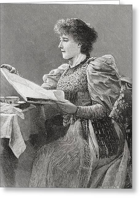 Gertrude Kingston, 1862 Greeting Card by Vintage Design Pics