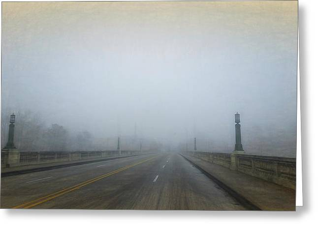 Greeting Card featuring the photograph Gervais Bridge Christmas Day by Steven Richardson