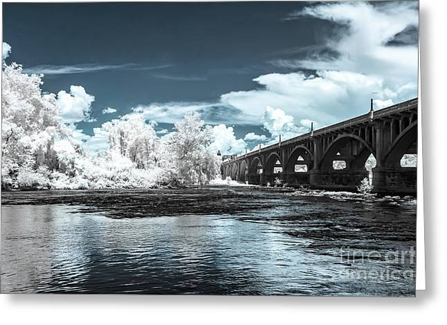 Gervais St. Bridge-infrared Greeting Card