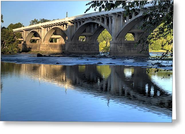Gervais Street Bridge-1 Greeting Card