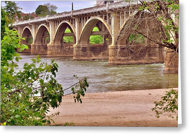Gervais Street Bridge 2 Greeting Card by Lisa Wooten
