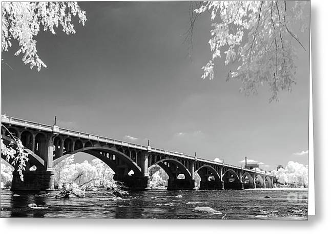 Gervais Street Bridge In Ir1 Greeting Card