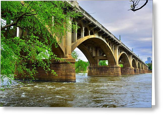 Greeting Card featuring the photograph Gervais Street Bridge by Lisa Wooten