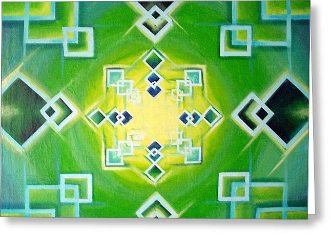 Gestalt Greeting Card by Morgan  Mandala Manley