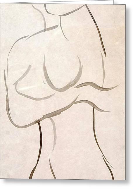 Gestural Nude Sketch Greeting Card