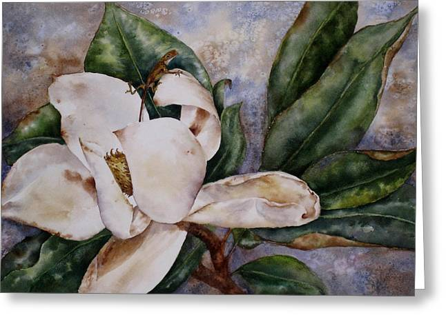 Greeting Card featuring the painting Get A Grip by Mary McCullah