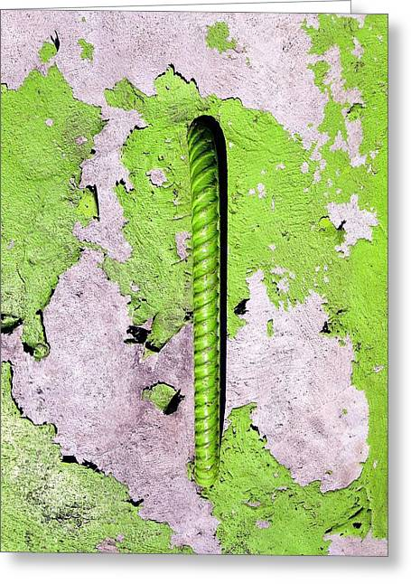 Greeting Card featuring the photograph Get A Handle by Olivier Calas
