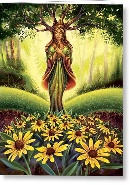 Get Grounded - Black Eyed Susan Greeting Card