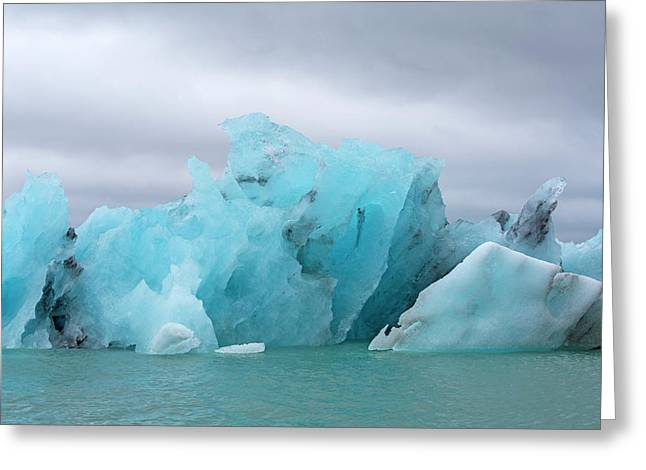 Get Inspired Glacier Lagoon Greeting Card by Betsy Knapp