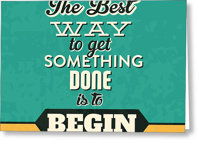 Get Something Done Greeting Card