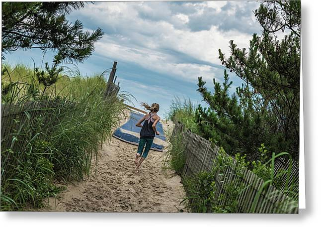 Greeting Card featuring the photograph Get To The Beach by T Brian Jones