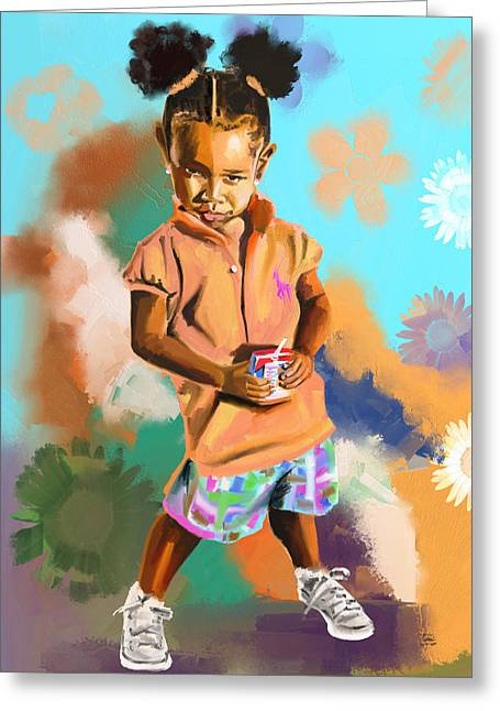 Get Your Own Juice Box Greeting Card by Terri Meredith