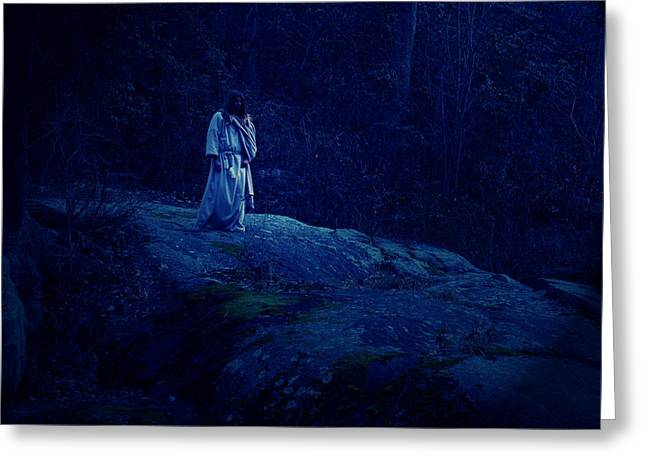 Gethsemane Greeting Card by Vienne Rea