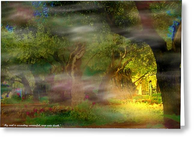 Greeting Card featuring the photograph Gethsemane Vision-2008 by Anastasia Savage Ealy