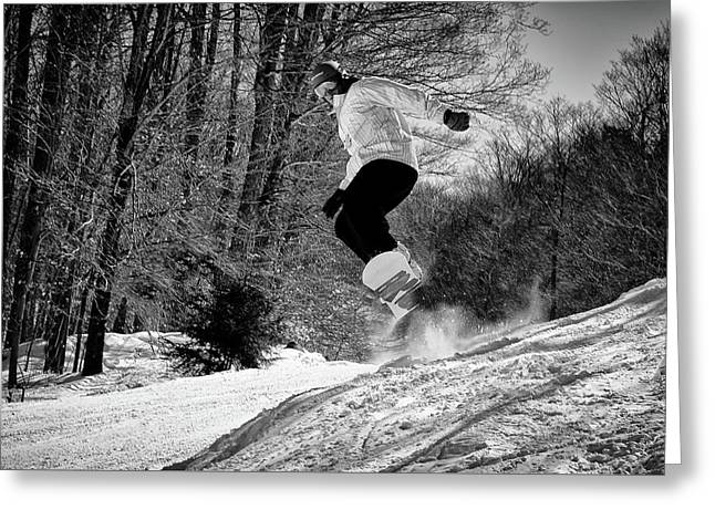 Greeting Card featuring the photograph Getting Air On The Snowboard by David Patterson