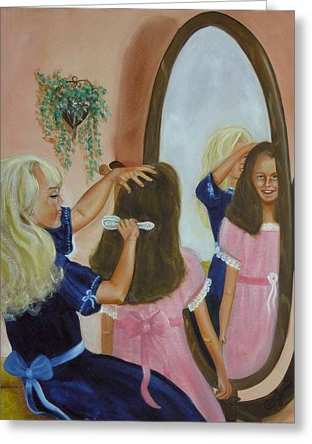 Greeting Card featuring the painting Getting Ready by Joni McPherson