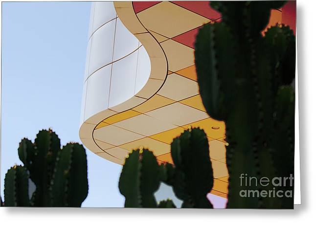 Getty Architecture Cactus Color Curves  Greeting Card