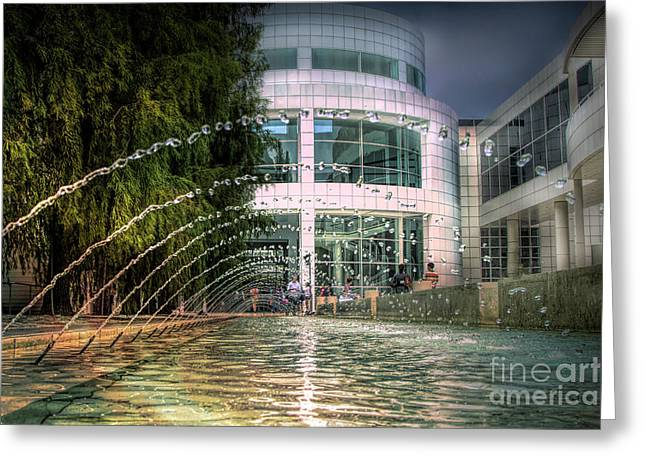 Getty Architecture Museum Los Angeles California  Greeting Card