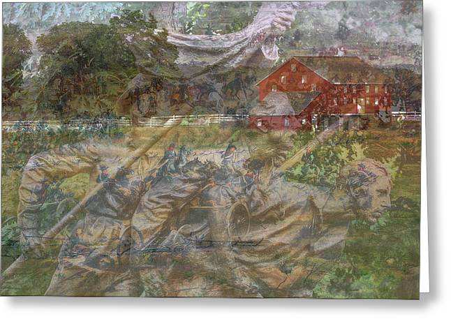 Gettysburg Back In Time Greeting Card by Randy Steele